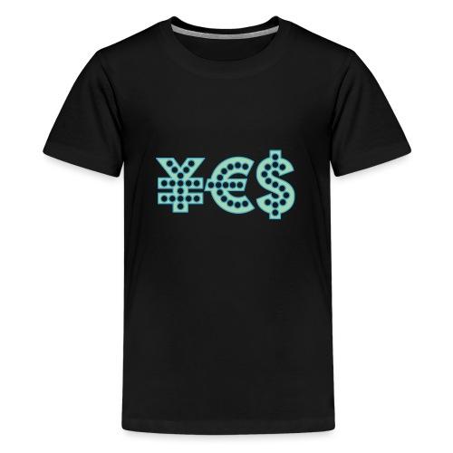 YES SARKAYAN kopia - Premium-T-shirt tonåring