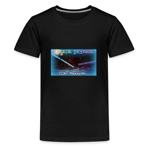 Rosa jpg - Premium T-skjorte for tenåringer