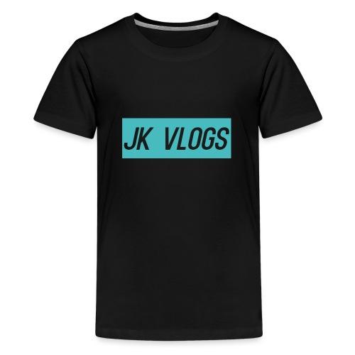 JK Vlogs Logo 2 - Teenage Premium T-Shirt