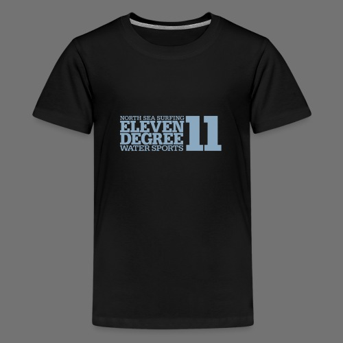 Surfing - eleven degree watersports (light blue) - Teenage Premium T-Shirt