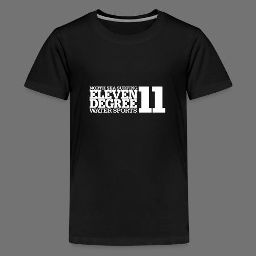 Surfing - eleven degree watersports (white) - Teenage Premium T-Shirt