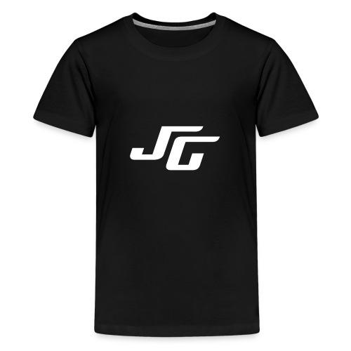 JG Logo weiss - Teenager Premium T-Shirt