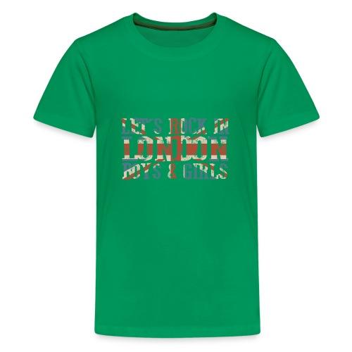 LET'S ROCK IN LONDON - Maglietta Premium per ragazzi