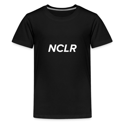 nclr white on black - Teenager Premium T-shirt