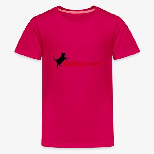 Schwarz-Rot Hoodie - Teenager Premium T-Shirt