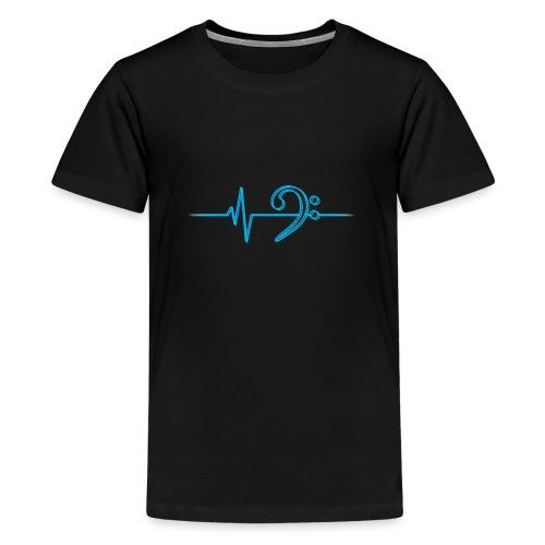 LowHeartBeatDouble cyan - Teenager Premium T-Shirt