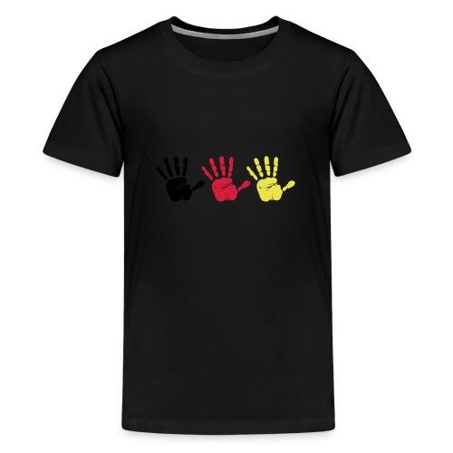 Handabdruck Trio - Teenager Premium T-Shirt
