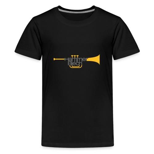hammer blech logo 85mmbreit - Teenager Premium T-Shirt