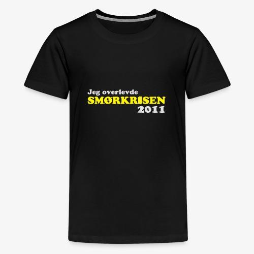 Smørkrise 2011 - Norsk - Premium T-skjorte for tenåringer