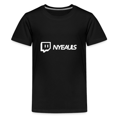 nyeauls twitch white png - Teenager Premium T-shirt