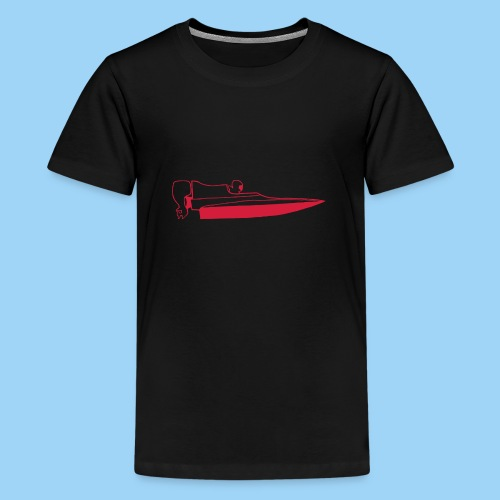 Powerboat GT30/GT15 Red - Premium-T-shirt tonåring