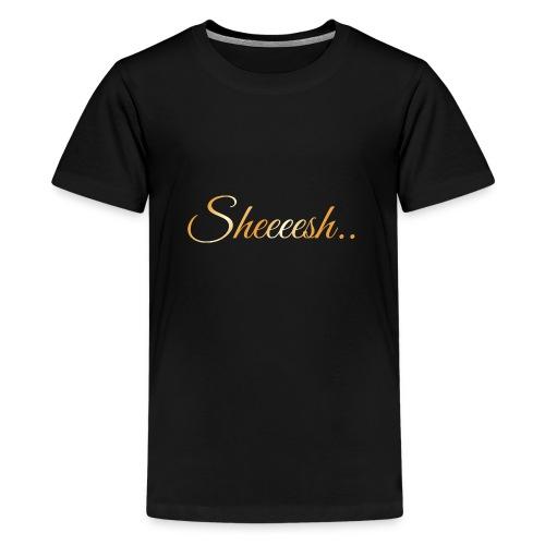 SheeshaTshirtGold ArtWork Front png - Teenager Premium T-Shirt