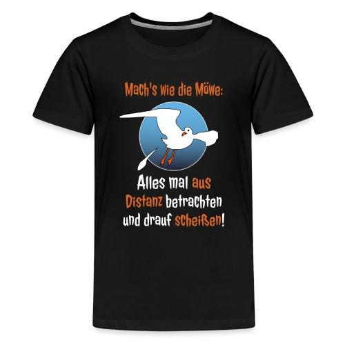 Möwe Scheißen Distanz Abstand Corona Spruch Lustig - Teenager Premium T-Shirt