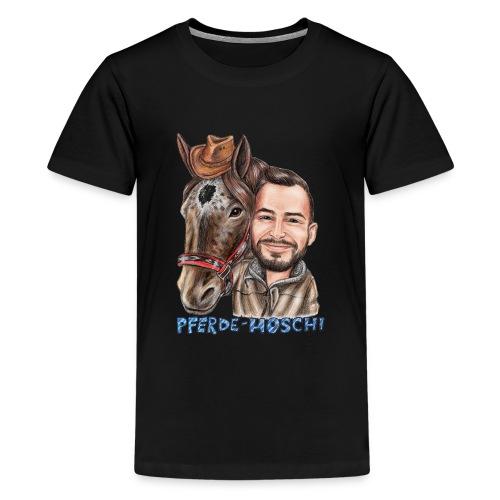 Pferde-Hoschi Kollektion hinten - Teenager Premium T-Shirt