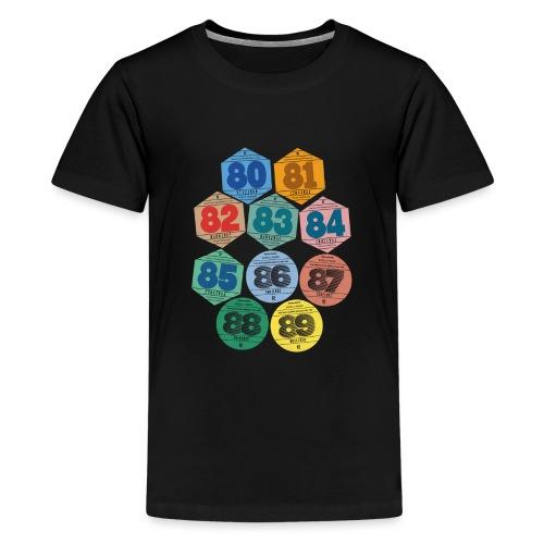 Vignettes automobiles années 80 - T-shirt Premium Ado