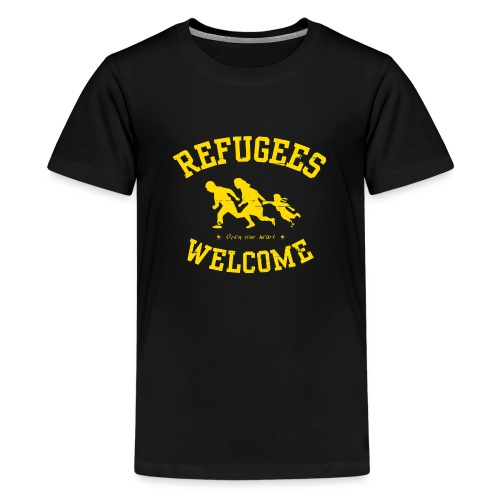 Refugees Welcome - Open your heart - Teenager Premium T-Shirt