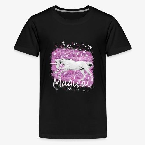 Unicorn Birthday Gift T Shirt for magical girls! - Teenage Premium T-Shirt