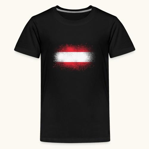Österreich Grunge österreichische Flagge Geschenk - T-shirt Premium Ado