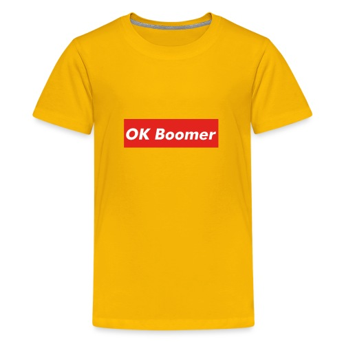 OK Boomer Meme - Teenage Premium T-Shirt