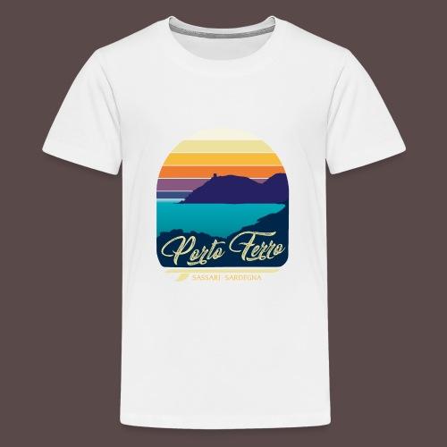 Porto Ferro - Vintage travel sunset - Maglietta Premium per ragazzi
