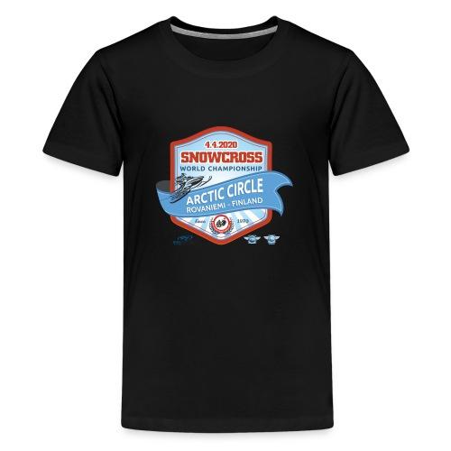 MM Snowcross 2020 virallinen fanituote - Teinien premium t-paita