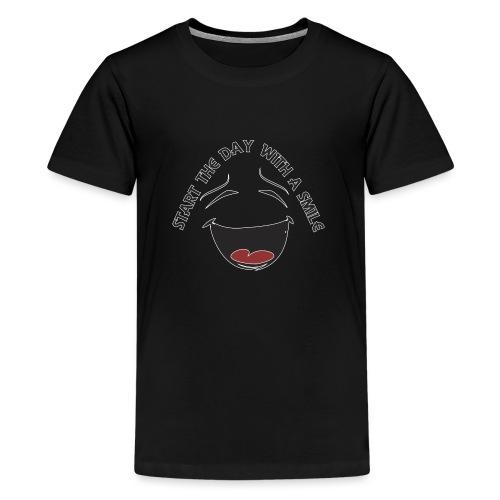 Zacznij dzień z uśmiechem - Koszulka młodzieżowa Premium