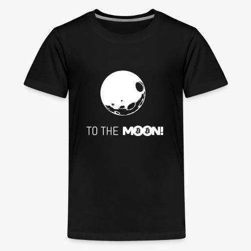 HODL-moonbtc-w - Teenage Premium T-Shirt