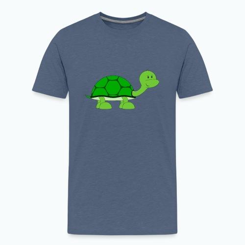 Totte Turtle - Appelsin - Premium-T-shirt tonåring