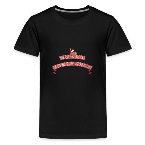 Merry Christmas Santa und Rudolph - Teenager Premium T-Shirt