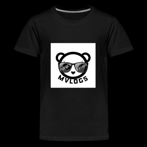 MVLOGS FUNKY PANDA - Teenage Premium T-Shirt