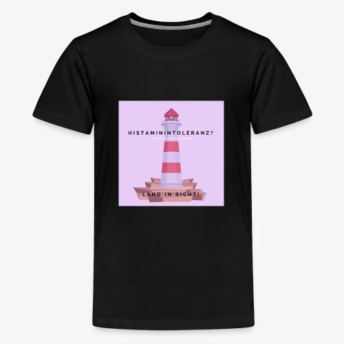 Histaminintoleranz – Land in Sicht (lila) - Teenager Premium T-Shirt