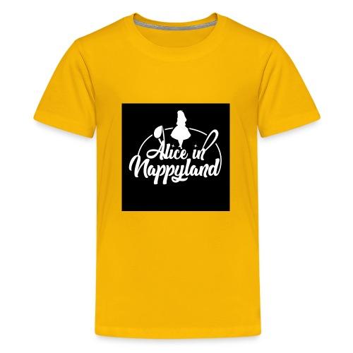 Alice in Nappyland TypographyWhite 1080 - Teenage Premium T-Shirt