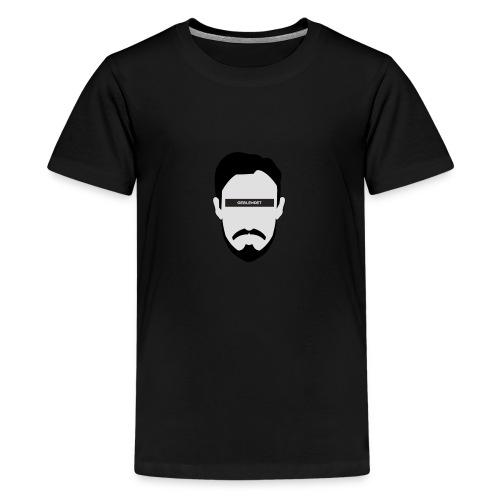 Geblendet Gesicht - Teenager Premium T-Shirt