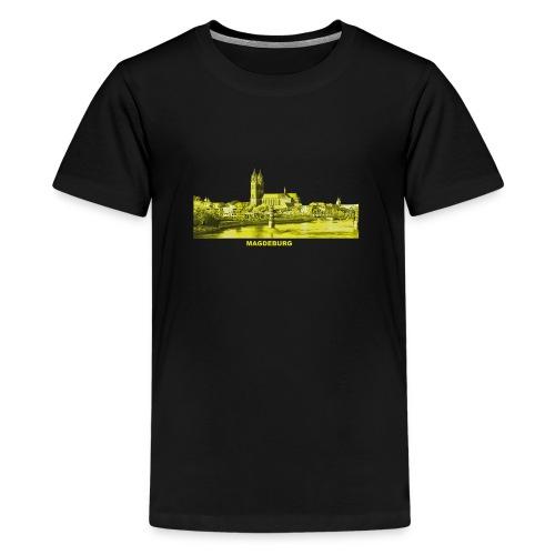 Magdeburg Dom Sachsen-Anhalt Deutschland Elbe - Teenager Premium T-Shirt