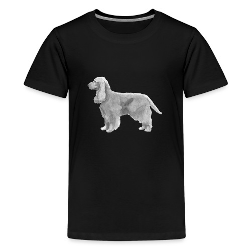 English cocker spaniel golden - Teenager premium T-shirt