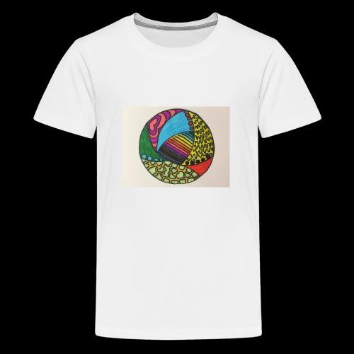circle corlor - Teenager premium T-shirt