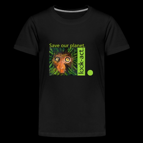 Save our planet. Affe im Regenwald - Teenager Premium T-Shirt