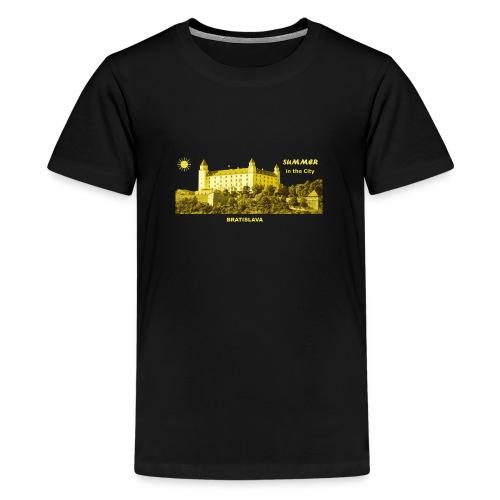 Summer Bratislava City Slowakei Burg Donau Sommer - Teenager Premium T-Shirt