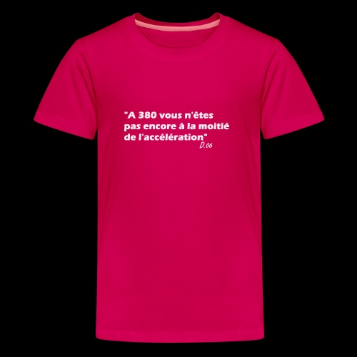 380 (blanc) - T-shirt Premium Ado