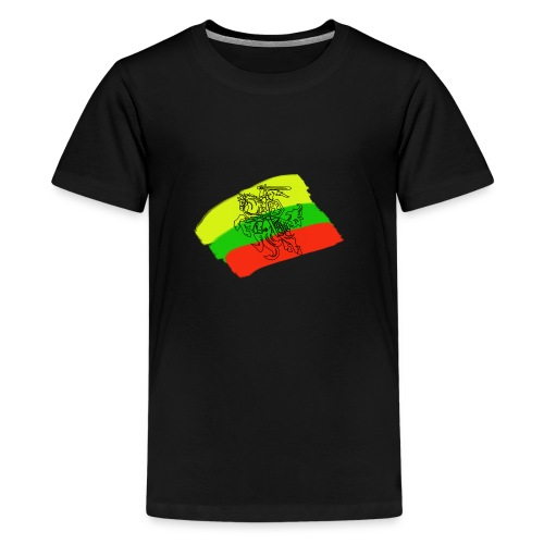 Lithuanian flag with rider - Teenage Premium T-Shirt