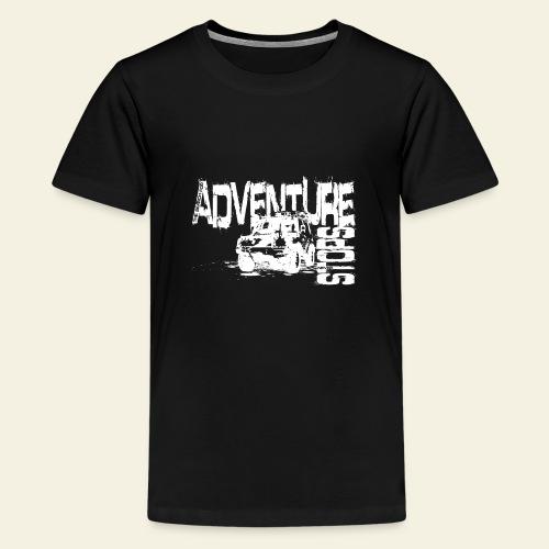 Adventure white - Teenager premium T-shirt