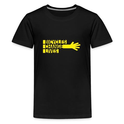 BCL Yellow Hand - Teenage Premium T-Shirt