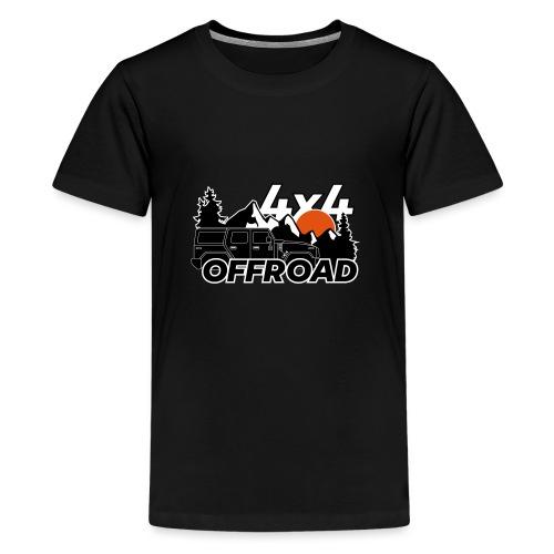 Offroad 4x4 Jeep Logo - Teenager Premium T-Shirt