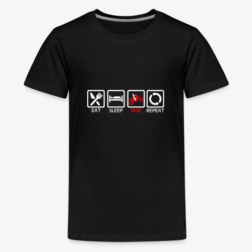 EAT SLEEP RIDE REPEAT - Koszulka młodzieżowa Premium