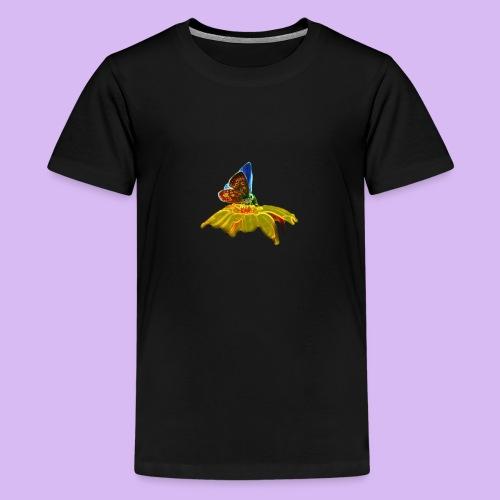 Farfalla su corolla - Maglietta Premium per ragazzi