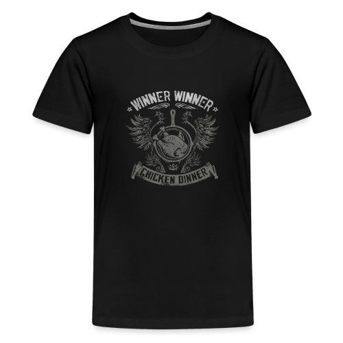 Chicken dinner - PUBG - Premium T-skjorte for tenåringer