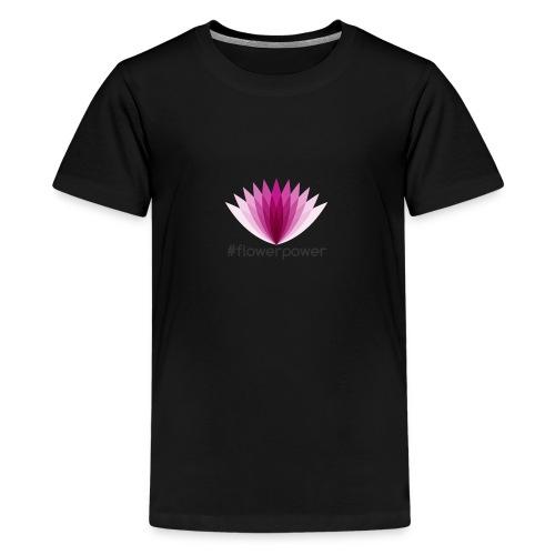 #flowerpower - Teenage Premium T-Shirt