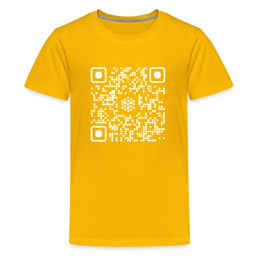 QR Safenetforum White - Teenage Premium T-Shirt