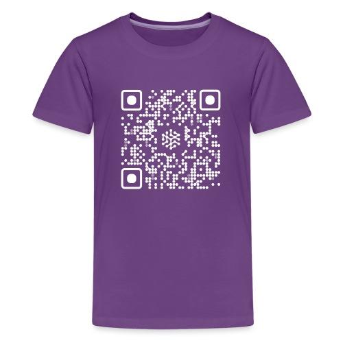 QR Safenetforum White - Teenage Premium T-Shirt