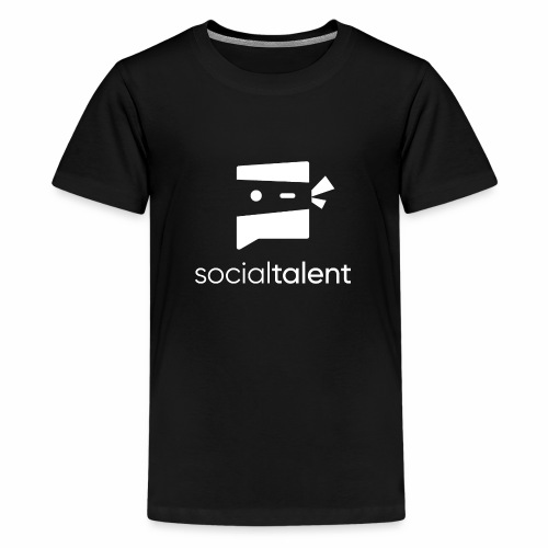 white social talent logo centre - Teenage Premium T-Shirt
